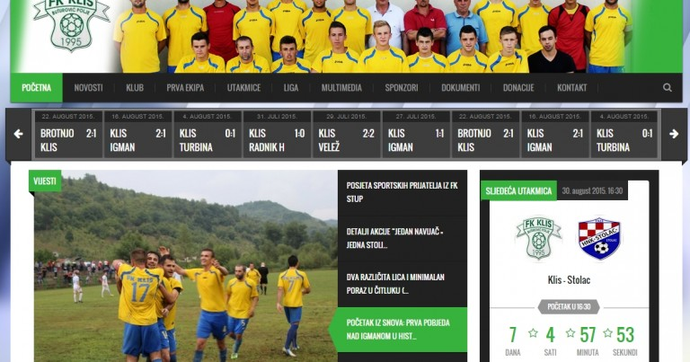 FK Klis pokrenuo web stranicu